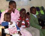 Mary and her children, Tanzania
