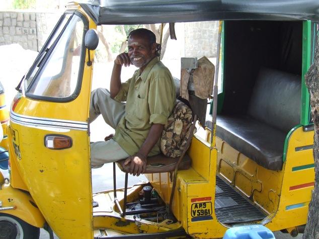 Rickshaw driver, Hyderabad
