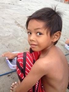 Balinese boy Kuta Beach