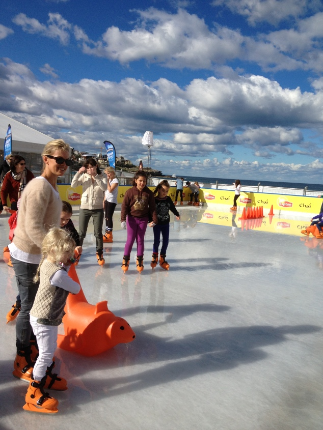 Ice skating at Bondi Winter Magic Festival
