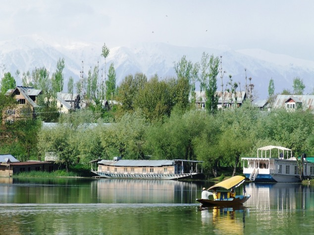 Houseboats on Nagin Lake, Kashmir