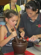 Junior chef learning the ropes