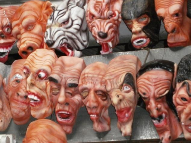 Spooky masks, Thailand