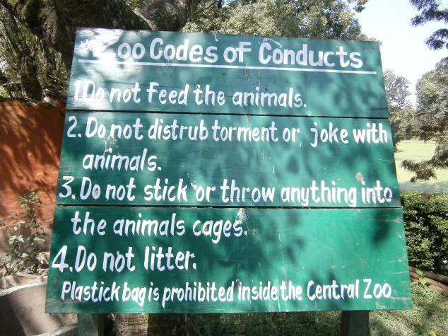 Rules for the Zoo