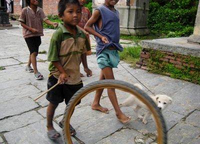 Children at play, Nepal