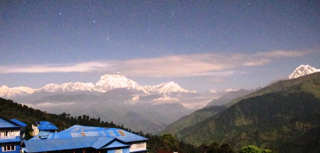 Machhapuchhre at night, Nepal