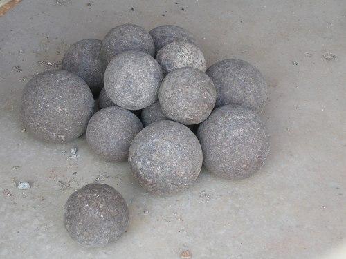Cannonballs at Golkonda Fort.