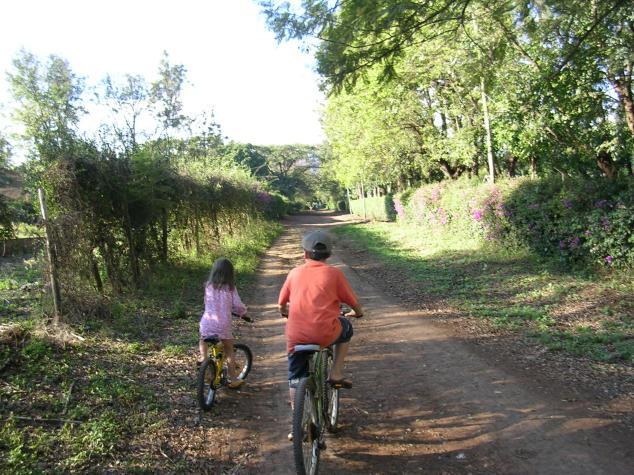 Riding bikes to school, Moshi, Tanzania
