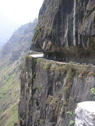 The road to Kapla in the Kinnaur Valley, India
